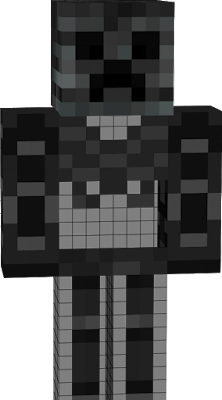 A spooky scary creeper skeleton