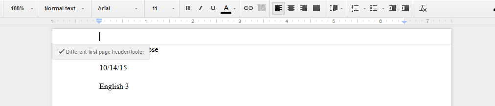 How To Remove The Header In Google Docs Google Product Forums