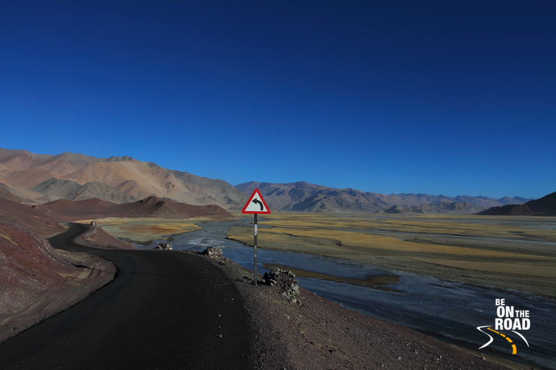 The Army road that leads to Hanle in the Changthang Cold Desert, Ladakh, India