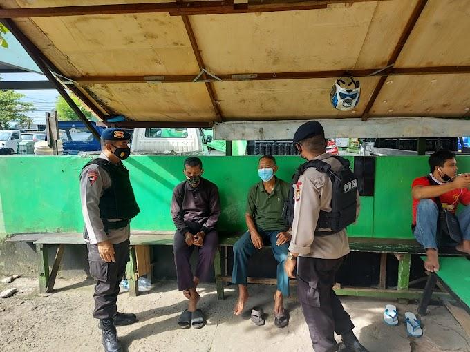 Patroli Batalyon A Pelopor Brimob Kaltim Imbau Warga Waspada Tindak Kejahatan