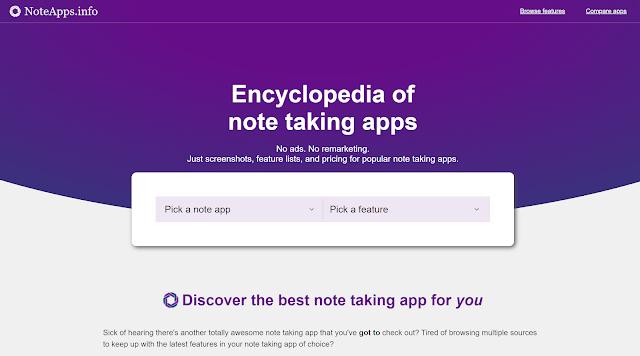 最強大筆記 App 哪裡找?用這個線上資料庫分析數百種功能,比較你的最佳選擇