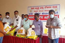 Kit to Bus employees- ಅರ್ಹ ಬಸ್ಸು ನೌಕರ ಕುಟುಂಬಗಳಿಗೆ ಆಹಾರ ಧಾನ್ಯಗಳ ಕಿಟ್ ವಿತರಣೆ
