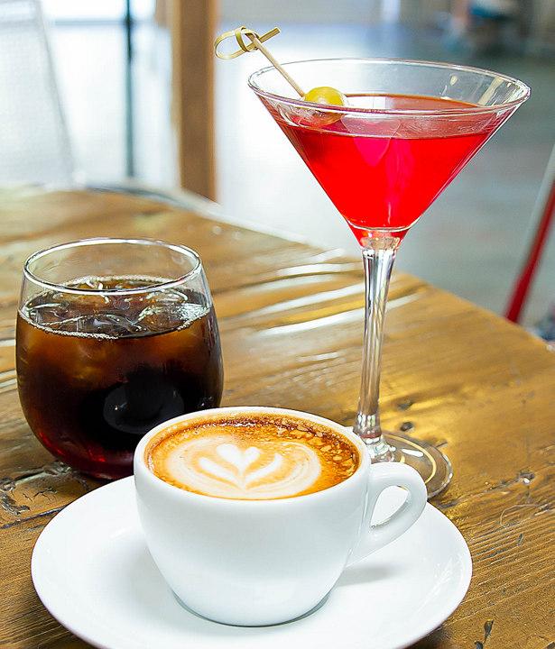 photo of  Dark Side Martini, Java The Hutt cold brew and a macchiato