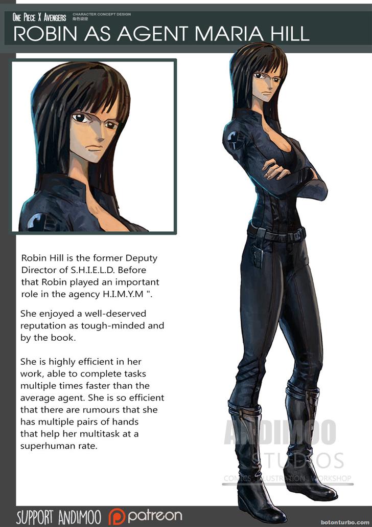 Robin como la Agente Maria Hill