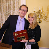 "2015-2016 CCBA President, Jim Myrick, says ""thank you"" to  2014-2015 CCBA President, Natalie Parker Bluestein"