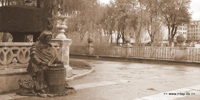 Castañera junto al río Arlanzón (Burgos)