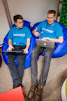 Polish team Codejoy during EUhackathon 2014 at Googleplex in Brussels, Belgium on 02.12.2014