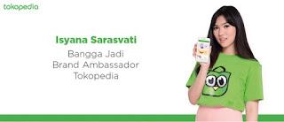 bintang iklan tokopedia yang baru isyana sarasvati