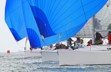 J/109s sailing in formation - Vice Admirals Cup