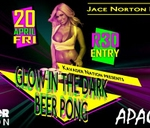 Glow in the Dark Beer Pong : Apache's Bar & Night Club