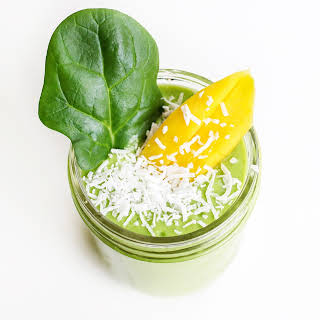 Dairy Free Mango Coconut Green Smoothie.