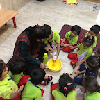 Cooking Activity - Mango Squash preparation by Nursery Section ( 2017-18) at Witty World, Bangur Nag