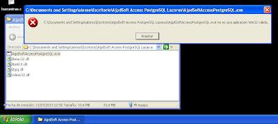 AjpdSoft Acceso PostgreSQL con Lazarus en Windows 8 en funcionamiento