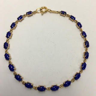14 K Gold & Lapis Bracelet
