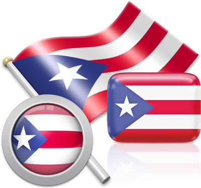 Puerto Rican flag icons pictures collection