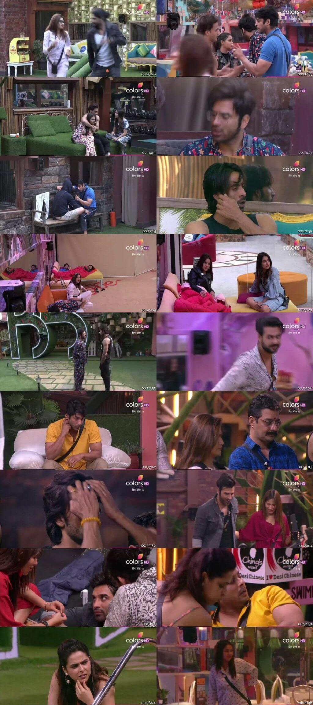 Screenshots Of Hindi Show Bigg Boss 13 3rd December 2019 Episode 64 300MB 480P HD