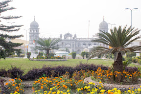 View of the main building from entrance gate, Gurdwara Janam-Asthan