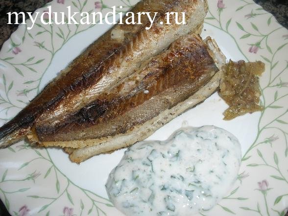 Рыба с луком в духовве - рецепт Дюкана