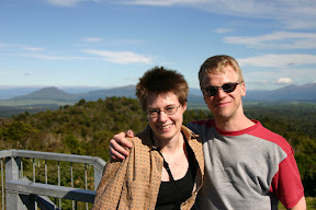 Lana and Gus at a roadside lookout