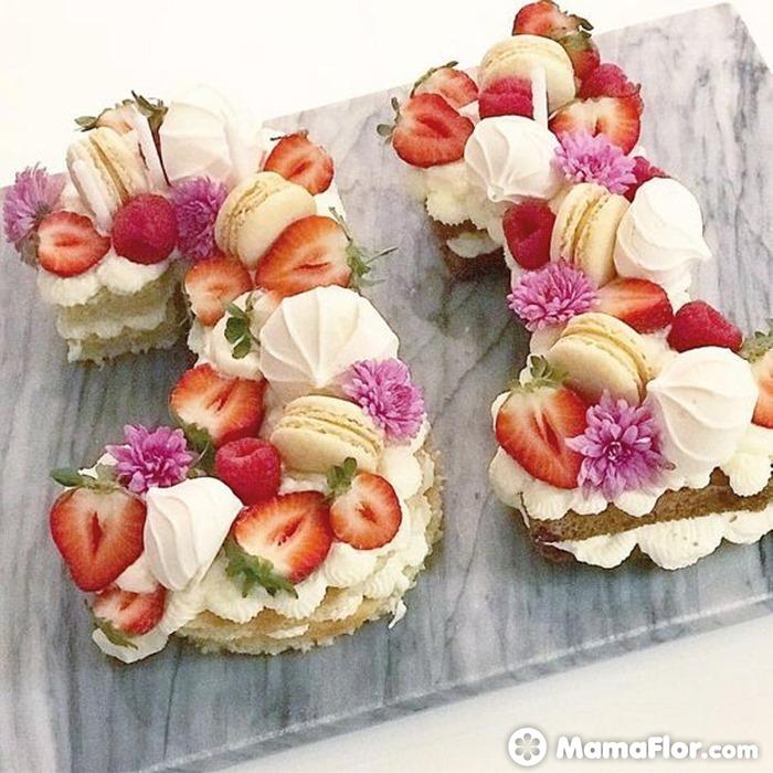 tortas con números 15