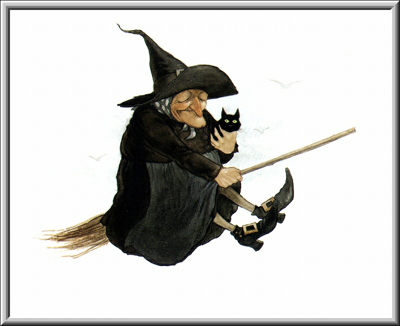 Halloween Witch Broom 1, Scary Halloween