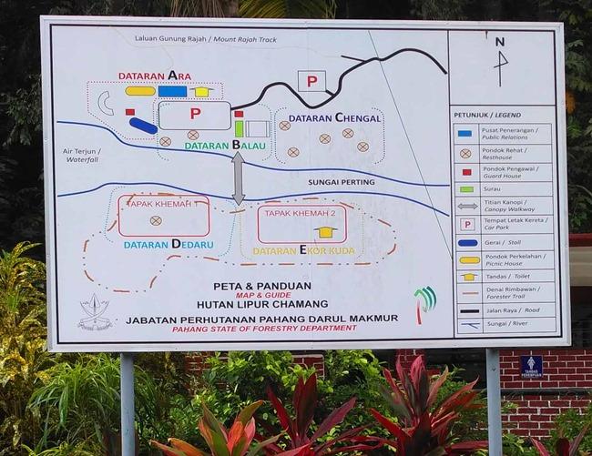 peta lokasi air terjun chamang
