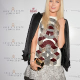 WWW.ENTSIMAGES.COM - Laura Whitmore  at    Lulu's Estate Jewellery - party at Ruski's Tavern, Kensington High Street, London October 10th 2013                                           Photo Mobis Photos/OIC 0203 174 1069
