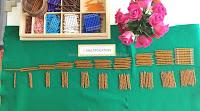 Learning Multiplication Using Montessori Colored Bead Bars