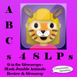 ABCs 4 SLPs: G is for Giveaways - Mask Jumble Animals Review and Giveaway image