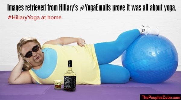hillary does yoga