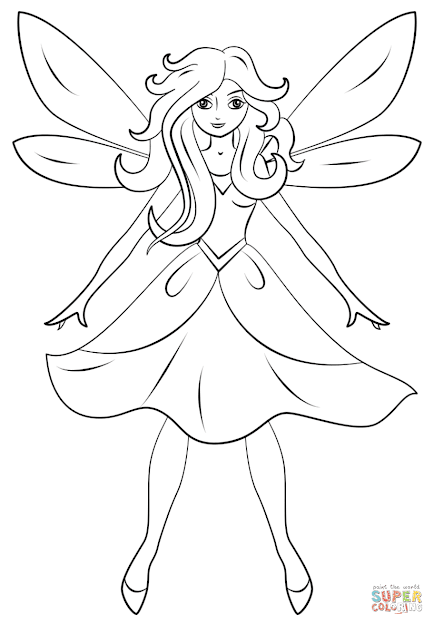 Click The Beautiful Fairy Coloring Pages