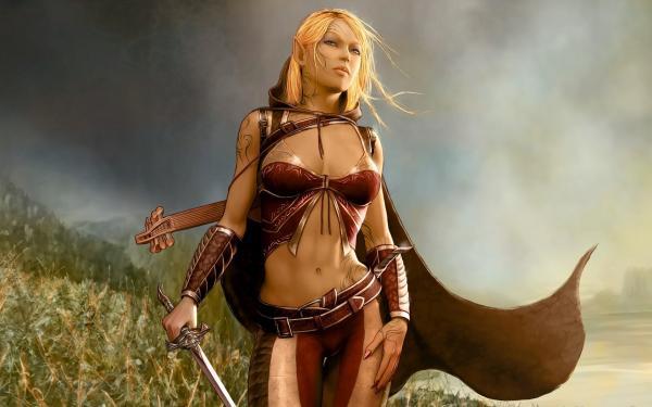 Beauty Of Cool Warrior And Musician, Beautiful Magic Girls 1