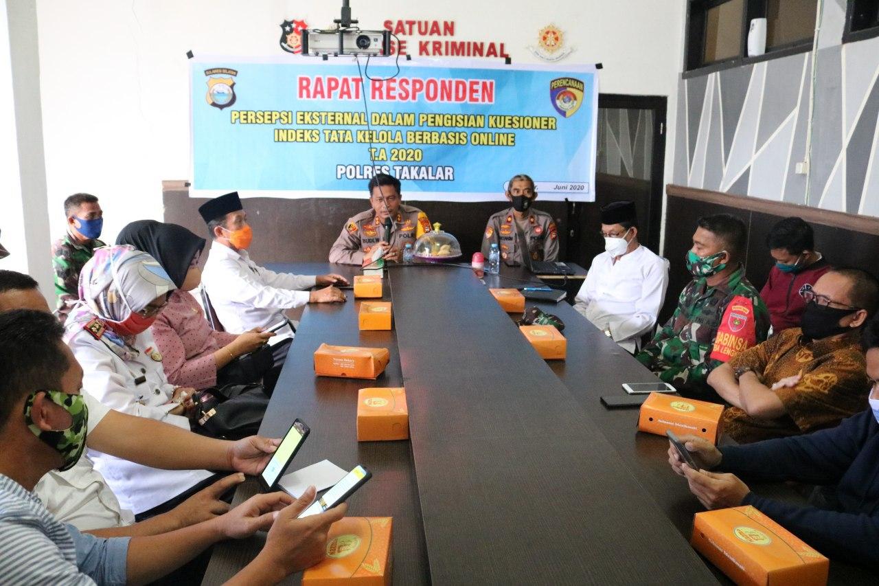 Ketua DPD GoWa-Mo Takalar Ikuti Rapat Responden Persepsi Eksternal Polres Takalar