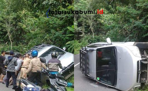 Kecelakaan tunggal di Ruas Jalan Palabuhanratu - Kiaradua Sukabumi // Foto : Rudi Imelda