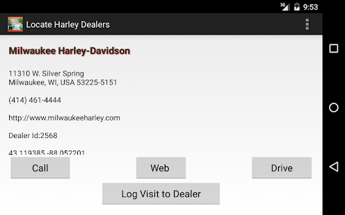 Locate Harley Dealers- screenshot thumbnail