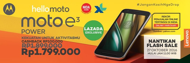 harga flash sale moto e3 power