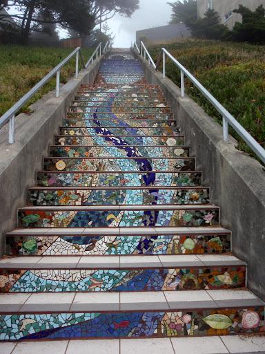 Mosaic Tiled Steps, San Francisco