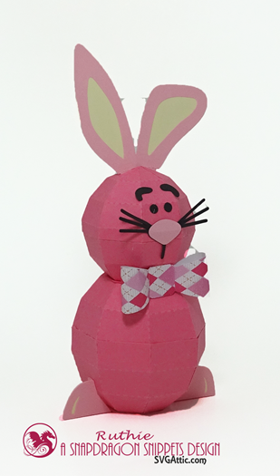 Bunny 3D Spheres Figure, SnapDragon Snippets, Ruthie Lopez 2