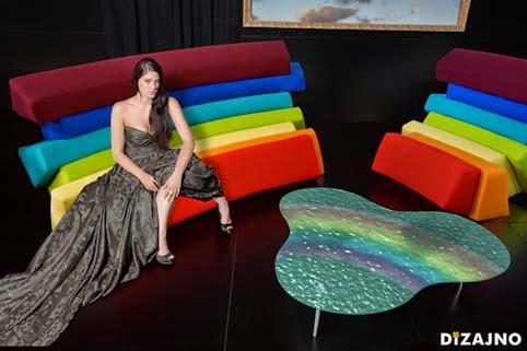 Arte en diseño, asientos de Lubo Majer