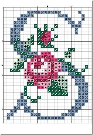 abc punto cruz letras con rosas  (18)