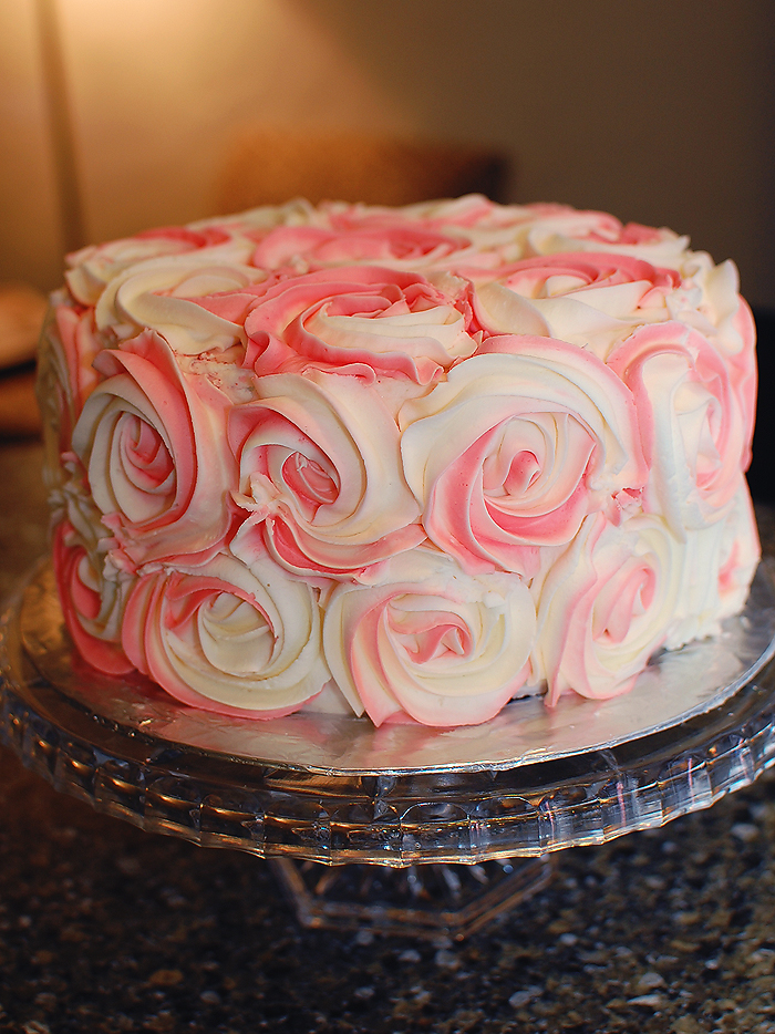 Rosette Fondant Cake