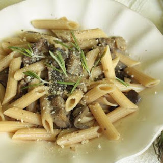 Penne Con Funghi E Melanzane (Penne With Mushrooms and Eggplant).