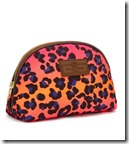 Otis Batterbee pink leopard print makeup purse