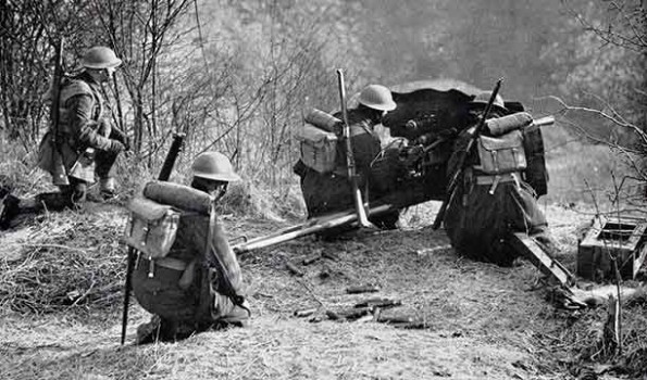 52nd anti tank - Royal Artillery - 5th ID - BEF British-anti-tank-gun-595x350