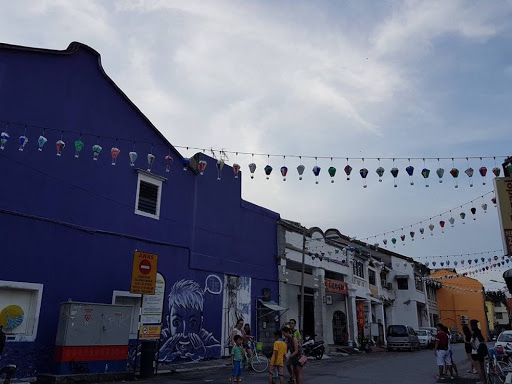 Colorful houses at Lebuh Armenian in Georgetown Penang