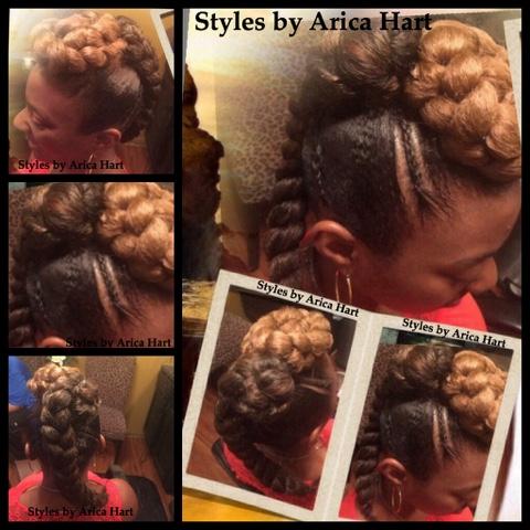 Black hair styles, mohawk