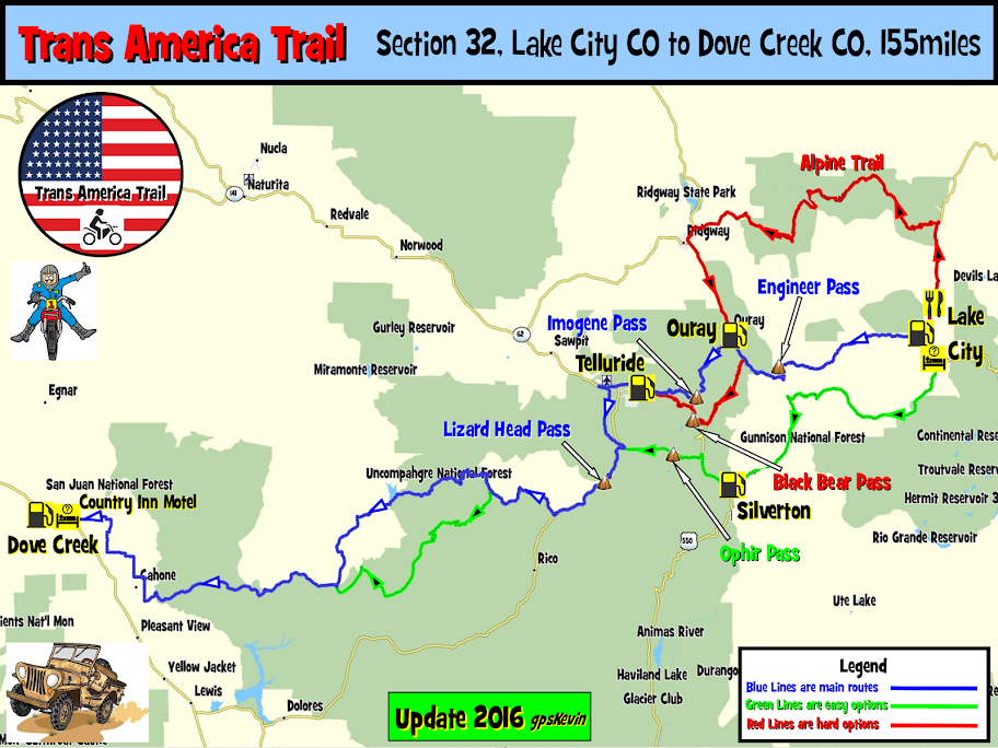 TAT Section 32 Lake City CO to Dove Creek CO   gpsKevin Adventure