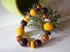 Browns - salted and hand varnished beads.