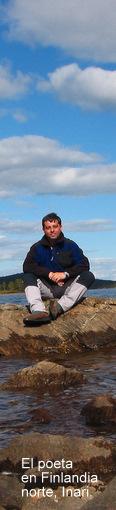 El poeta en Inari, Finlandia norte.