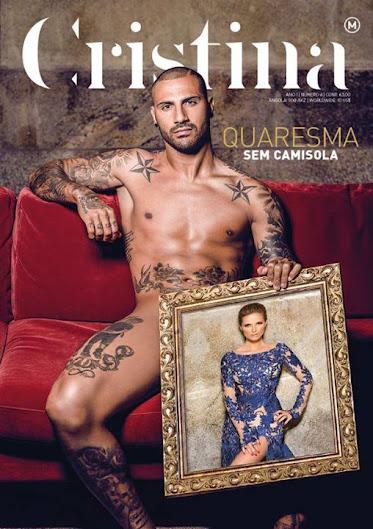 Paródia - Quaresma despe-se para a capa da revista de Cristina Ferreira